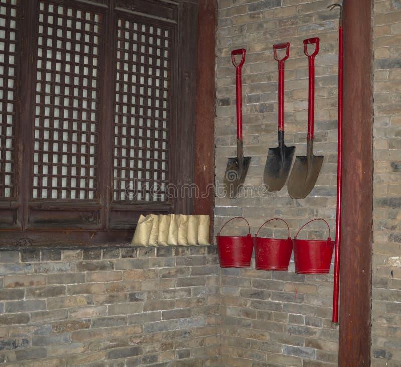 Système traditionnel de protection contre l'incendie image stock