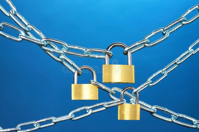 Systèmes de forte sécurité. photo stock