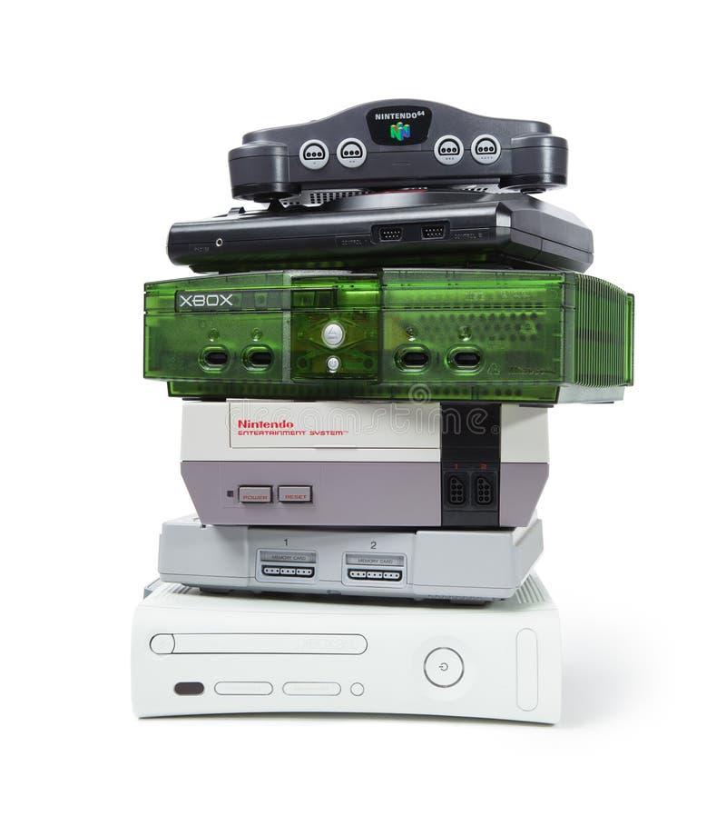 Systèmes de jeu de console photographie stock libre de droits