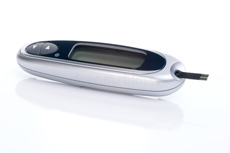 Syste de contrôle de glucose de sang photos libres de droits