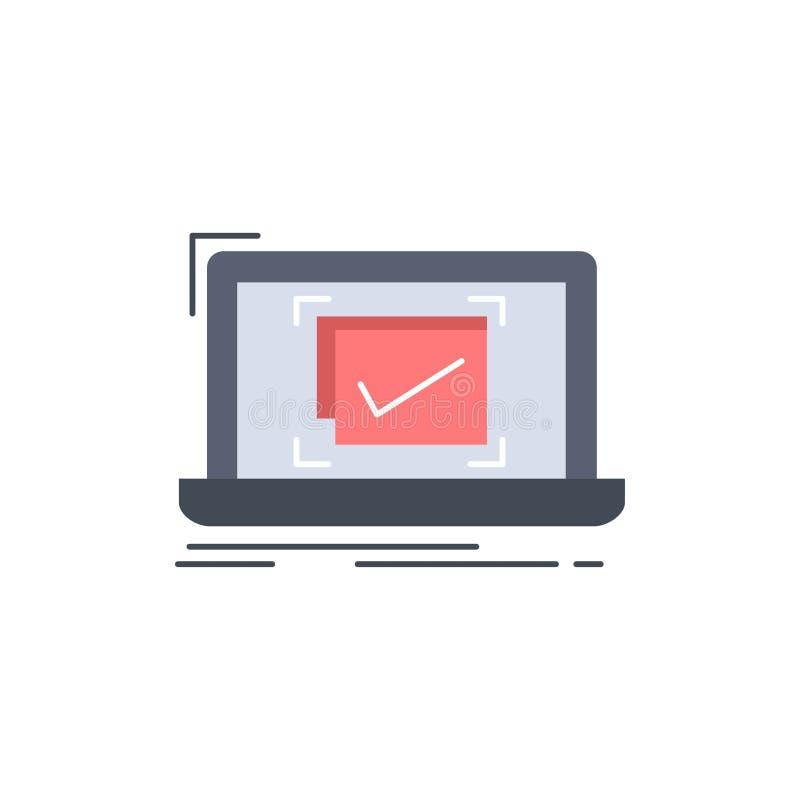 systeem, controle, controlelijst, de Goede, O.K. Vlakke Vector van het Kleurenpictogram vector illustratie