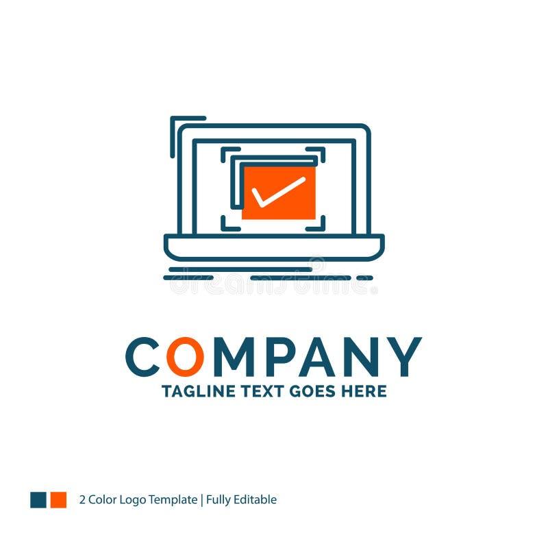 systeem, controle, controlelijst, Goed, O.K. Logo Design Blauw en of stock illustratie