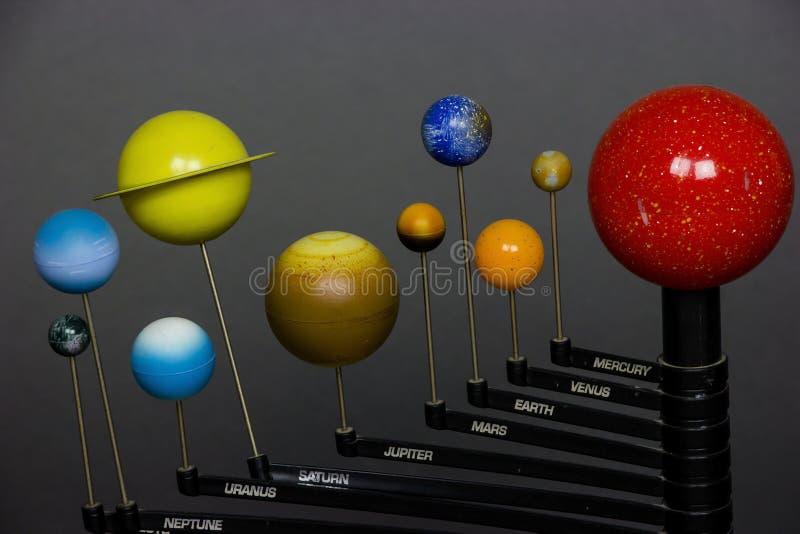 systeem galactische planeten royalty-vrije stock afbeeldingen