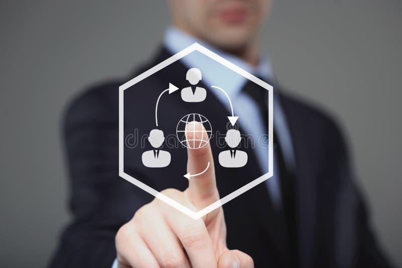 Systeem van het de werknemers menselijke middel van de zakenman het uitgezochte Keus royalty-vrije stock afbeeldingen