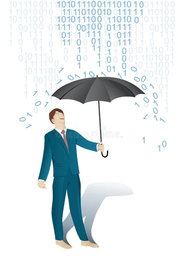 Systeem van het regen het binaire cijfer vector illustratie
