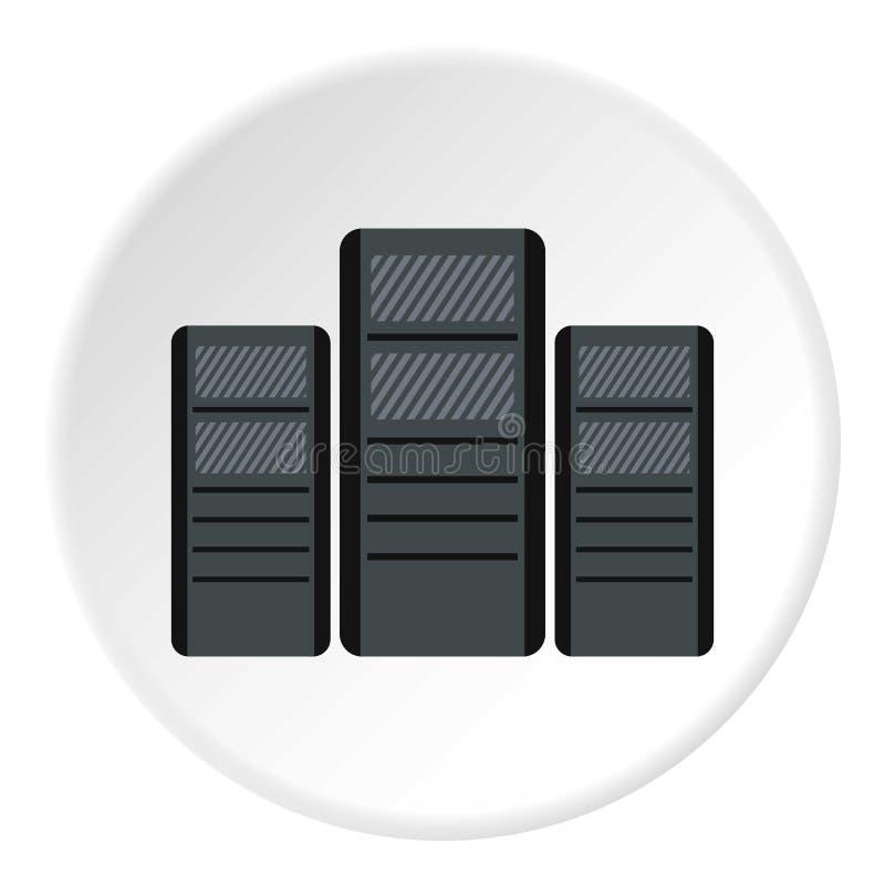 Systeemblokken van computerspictogram, vlakke stijl stock illustratie
