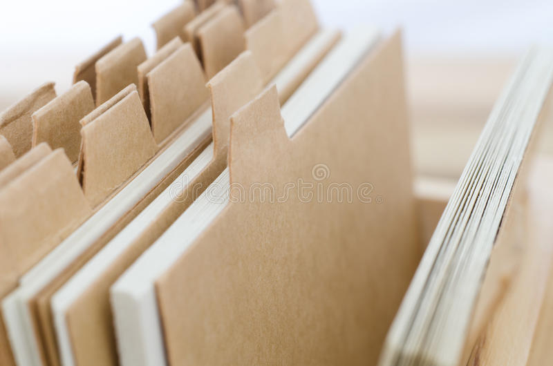 Systeemkaarten met Lege Bruine Verdelers stock afbeelding