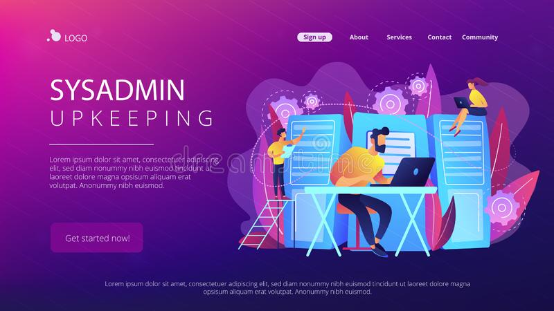 System administration concept vector illustration stock illustration