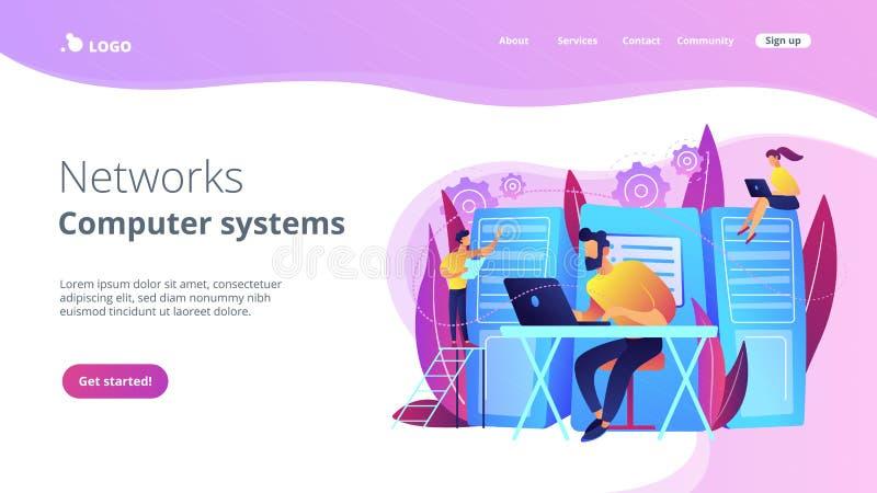 System administration concept vector illustration royalty free illustration