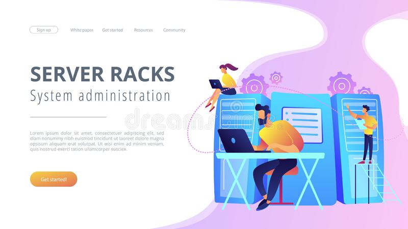 System administration concept vector illustration vector illustration