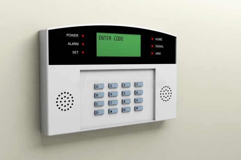 System alarm protection safety box code security stock photos