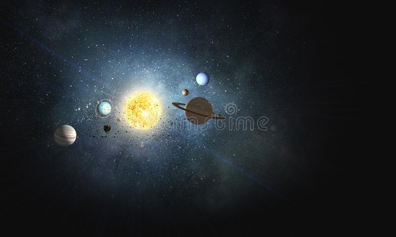 System av planeter Blandat massmedia royaltyfri fotografi
