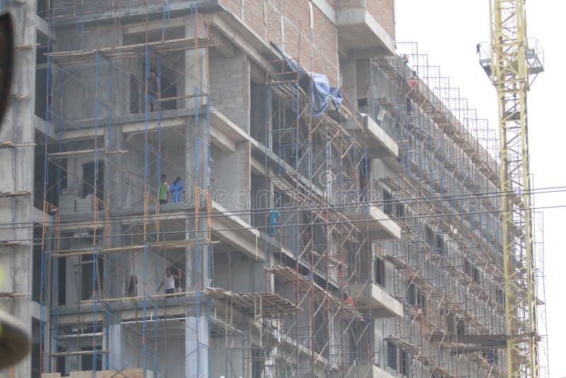 System bezpieczeństwa kondygnaci budynku pracownicy obraz stock
