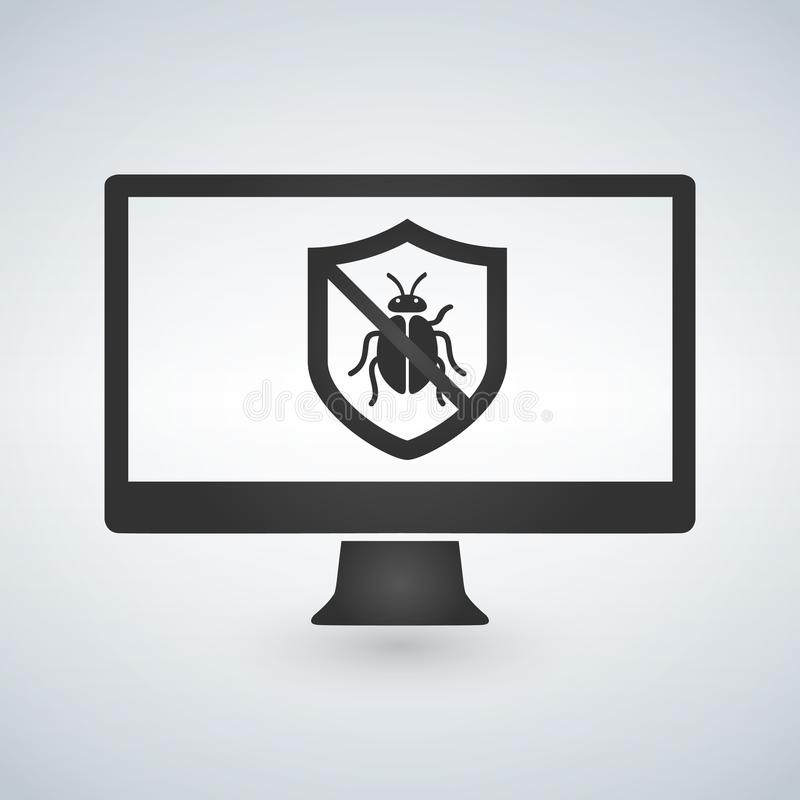 System bug concept. Code bug concept. Vector bug in the system. Bug searching. Vector illustration. vector illustration
