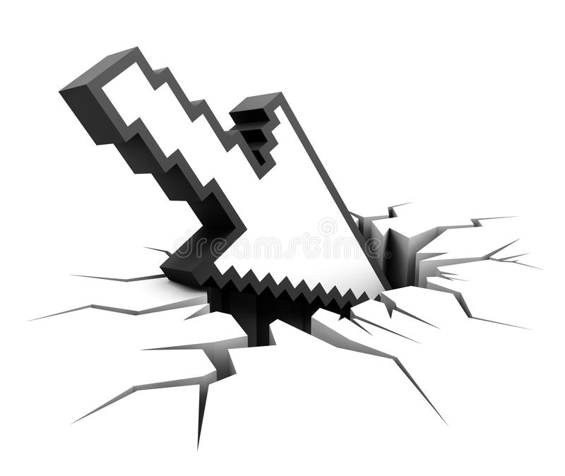 Download System Crash stock illustration. Illustration of point - 17414317