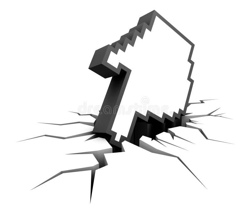 Download System Crash stock illustration. Illustration of hole - 17414333