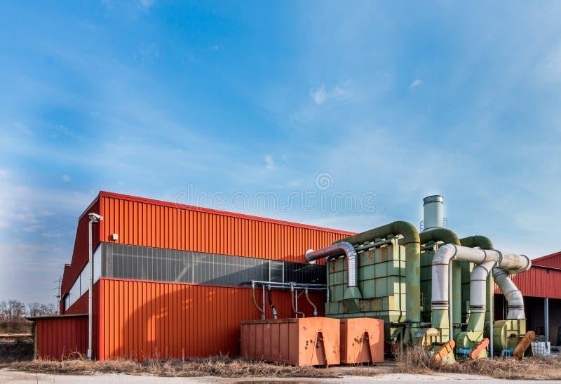 System der Filtration einer Fabrik stockfoto