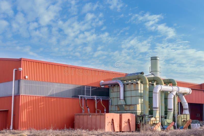 System der Filtration einer Fabrik stockfotos