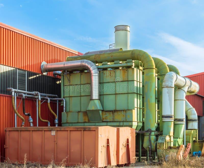 System der Filtration einer Fabrik lizenzfreies stockfoto