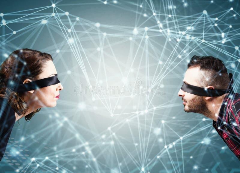 System der Verbindung des Sozialen Netzes stockfotos
