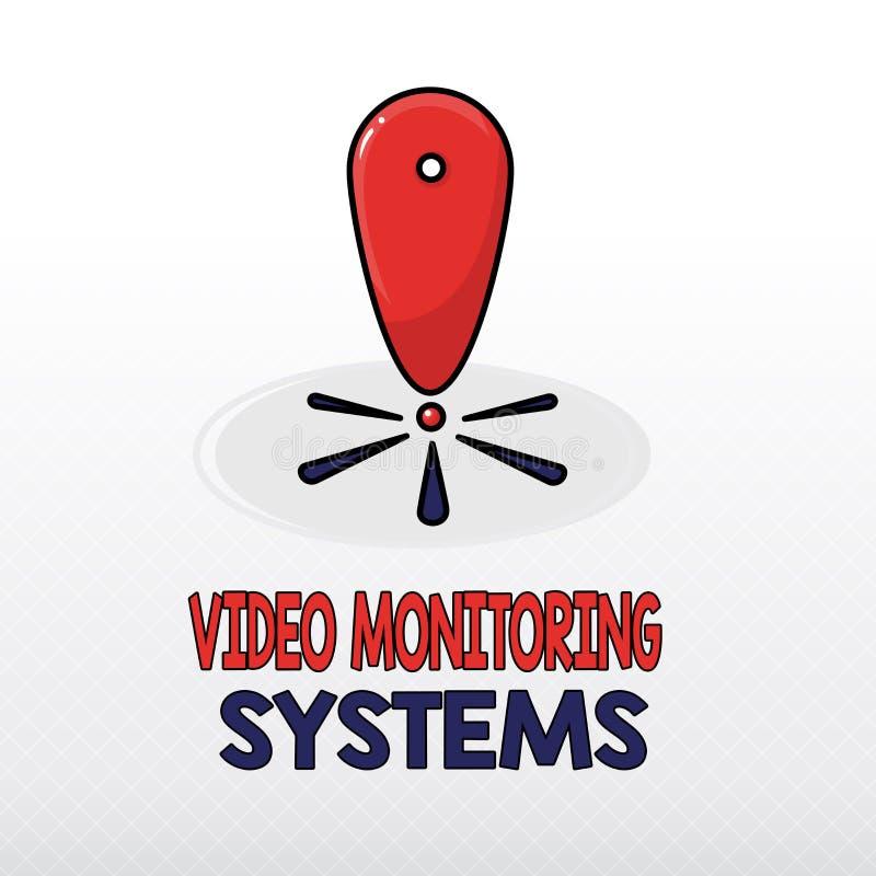 System för övervakning för ordhandstiltext videopp Affärsidéen för bevakning överför tillfångatagandebild till den Digital samman stock illustrationer