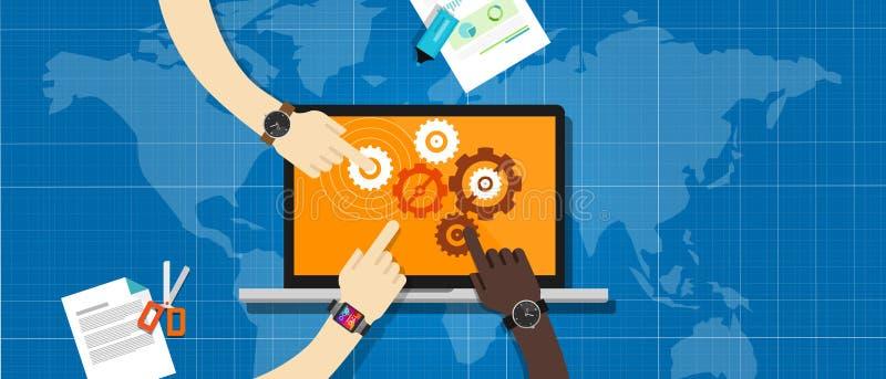 System för Ecs-företagsamarbete royaltyfri illustrationer