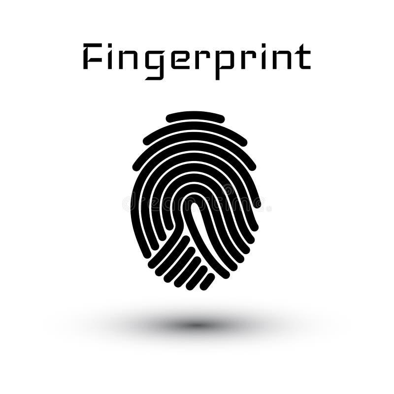 System för fingeravtryckscanningID Biometric bemyndigande- och affärssäkerhetsbegrepp också vektor för coreldrawillustration royaltyfri illustrationer