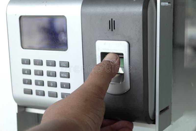 System för fingerbildläsningssäkerhet arkivfoton