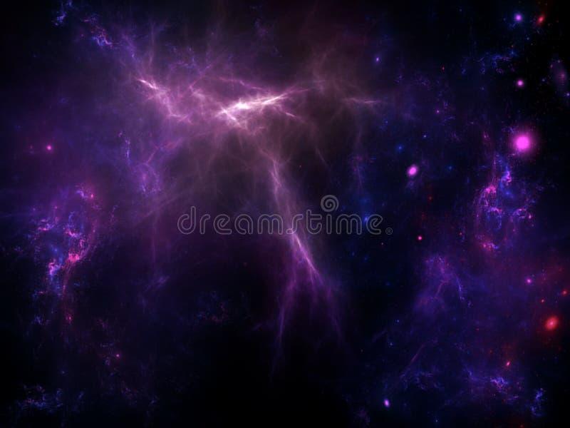 System f?r galax A av miljoner eller miljarder av stj?rnor, samman med gas och damm som tillsammans rymms av den gravitations- dr stock illustrationer