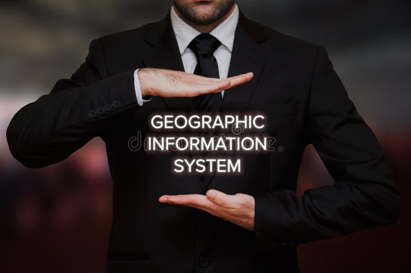 System för geografisk information & x28; GIS& x29; royaltyfria bilder