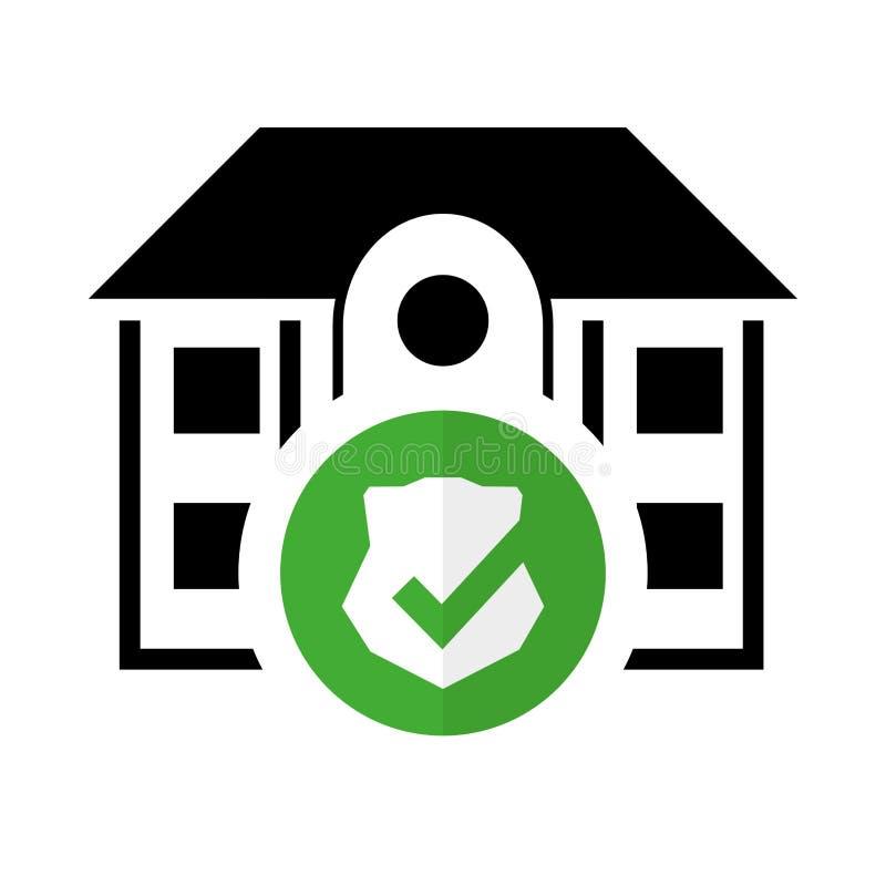 system för hem- säkerhet för pictogram skyddat vektor illustrationer
