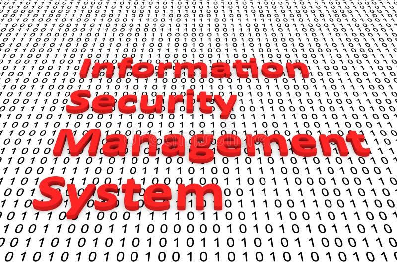 System för ledning för informationssäkerhet stock illustrationer