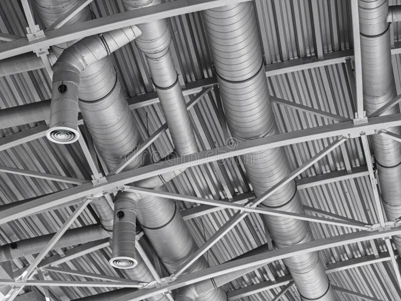System för rör för ventilation för Hvac-kanalluftkonditioneringsapparat arkivfoton