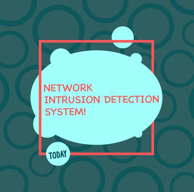 System för upptäckt för inhopp för nätverk för textteckenvisning Asymmetriska begreppsmässiga system för multimedia för fotosäker royaltyfri illustrationer