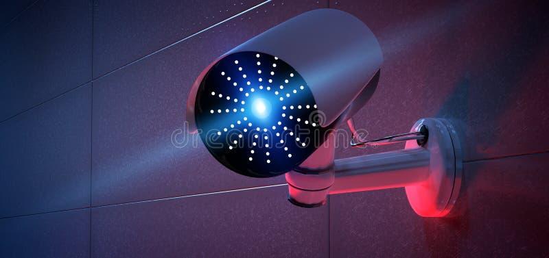 System f?r s?kerhetsCCTV-kamera - tolkning 3d vektor illustrationer