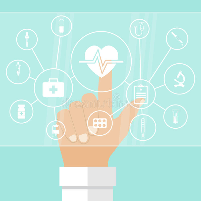 System of healthcare concept stock illustration