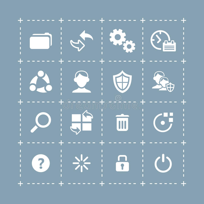 Download System icons | TECH series stock vector. Image of search - 32088869