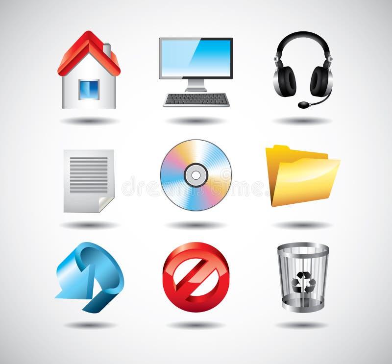 System komputerowy ikony ilustracja wektor