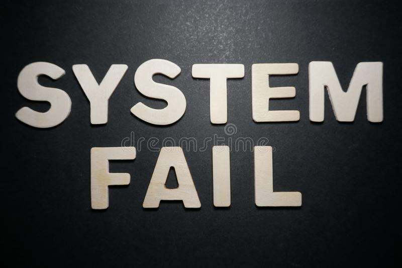 System Nie udać się fotografia royalty free