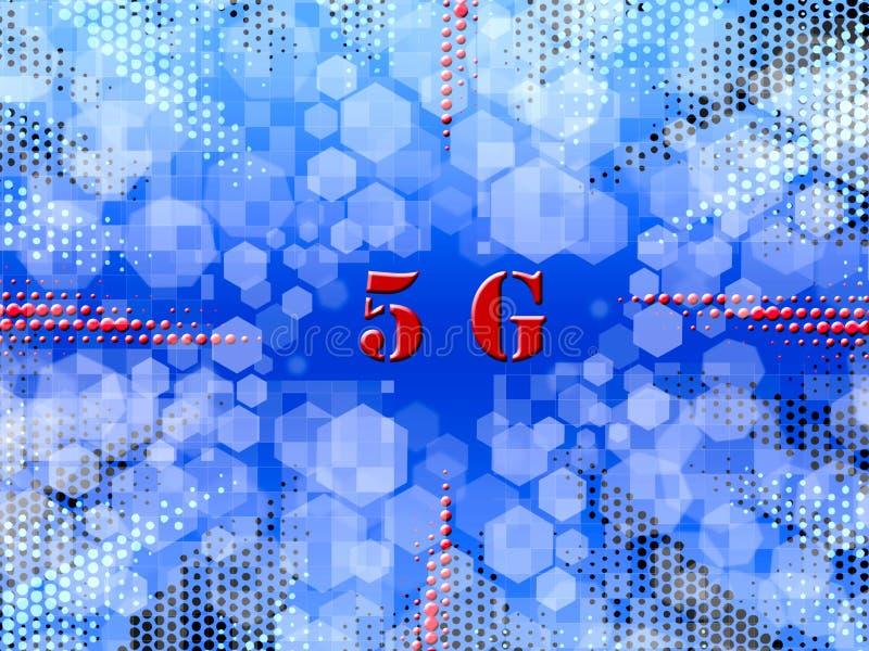 system och internet för nätverk för logo 5G trådlösa arkivfoto