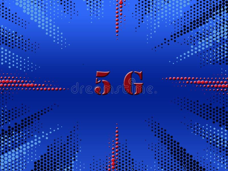 system och internet för nätverk för logo 5G trådlösa royaltyfria foton