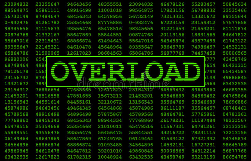System Overload royalty free illustration