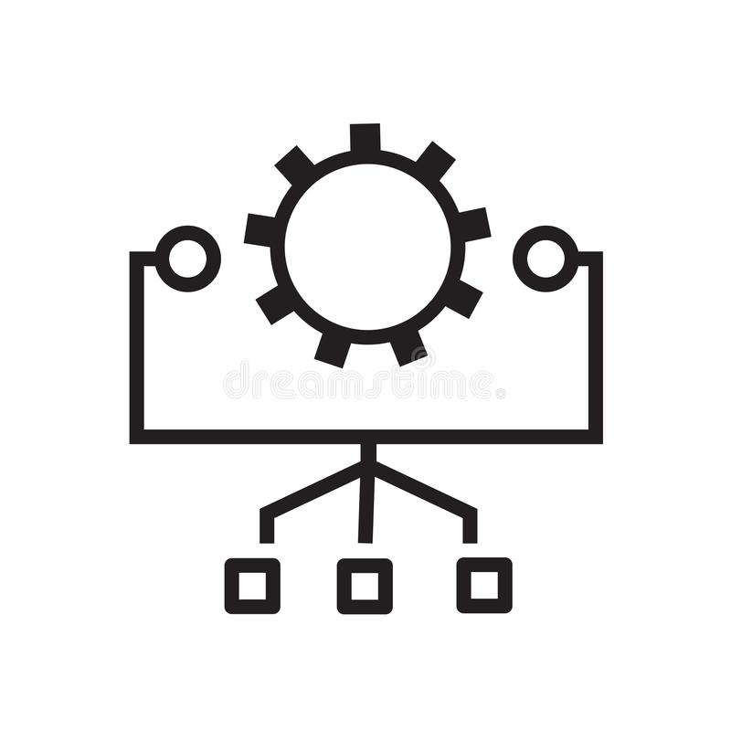 System preferences icon with connections stock illustration