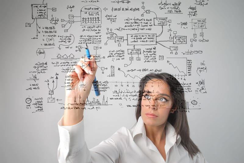 system rysunkowa kobieta ilustracja wektor
