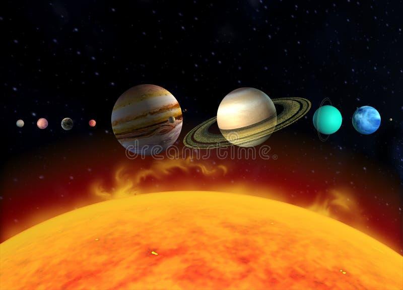 system słoneczny, planety ilustracji