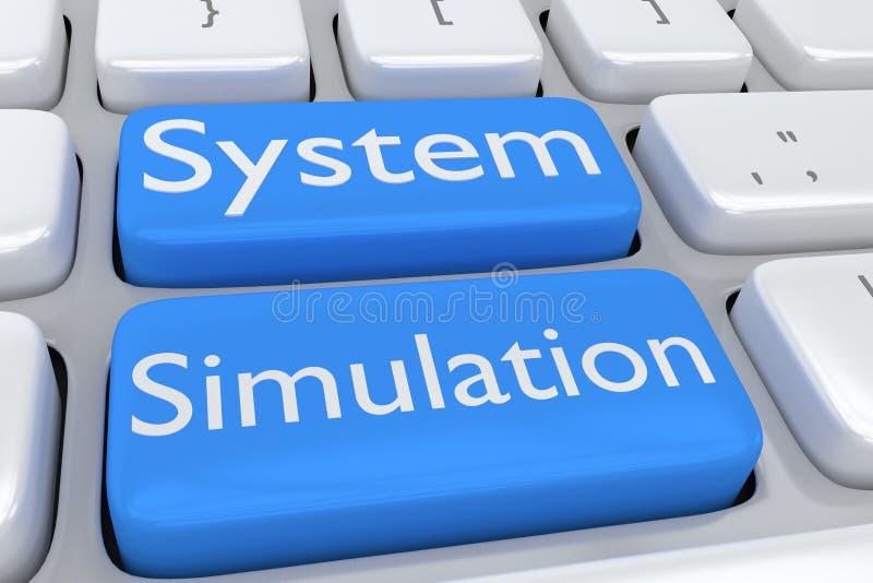 System Simulation concept royalty free illustration