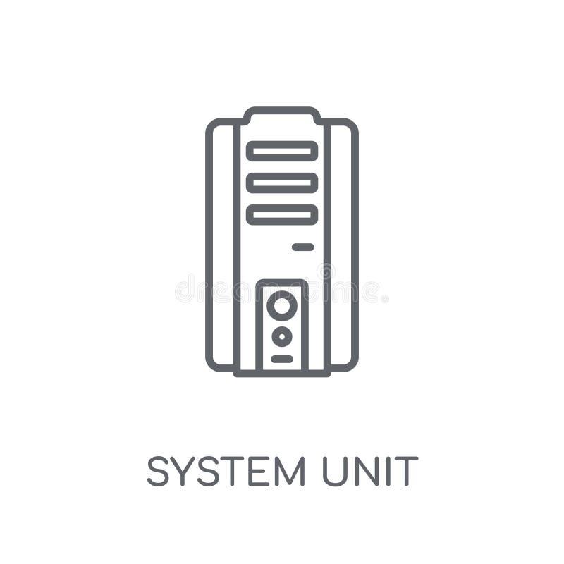 System Unit linear icon. Modern outline System Unit logo concept stock illustration