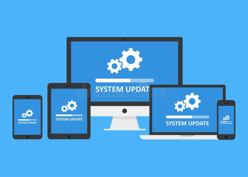 System update set vector illustration