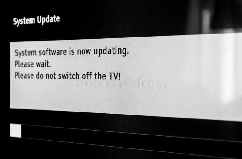 Updating software please wait
