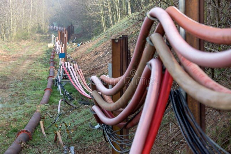 System wodny przy węglowym nawierzchniowego kopalnictwa hambach Germany fotografia royalty free